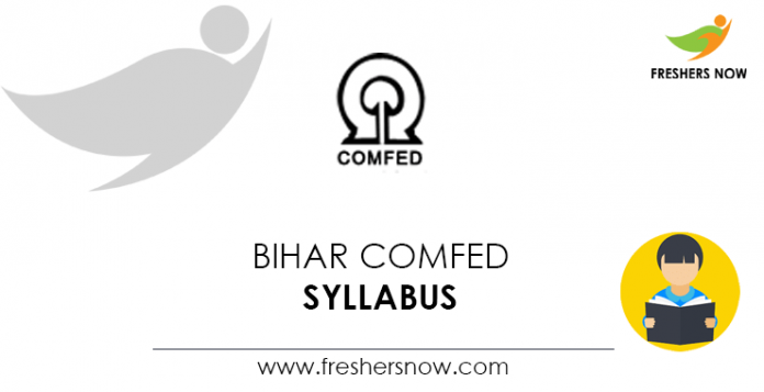 Bihar-COMFED-Syllabus