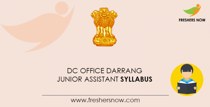 DC-Office-Darrang-Junior-Assistant-Syllabus