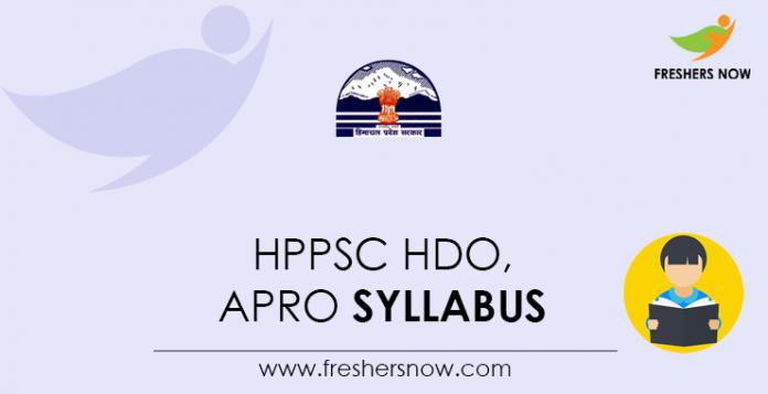 HPPSC-HDO,-APRO-Syllabus