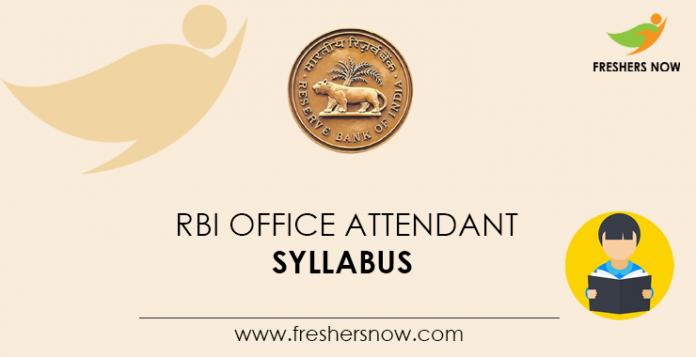 RBI-Office-Attendant-Syllabus