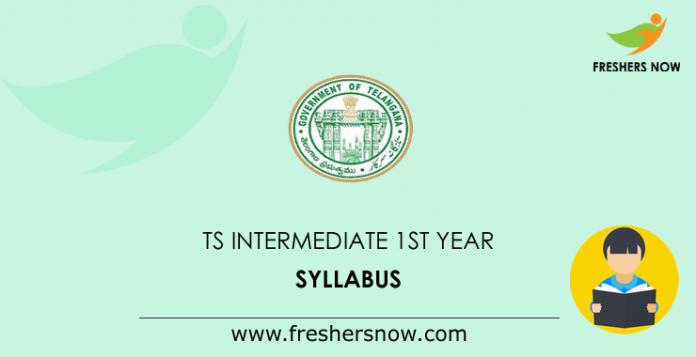 TS Intermediate 1st Year Syllabus