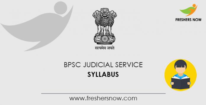 BPSC Judicial Service Syllabus