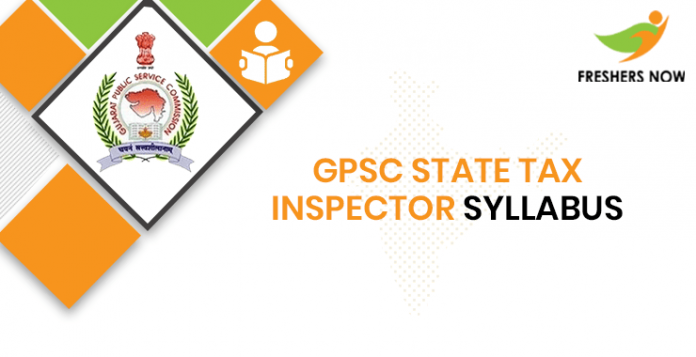 GPSC State Tax Inspector Syllabus 2020