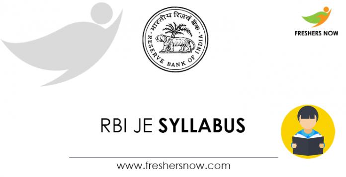 RBI JE Syllabus
